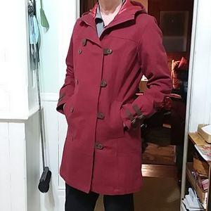 Columbia Red Wool Coat